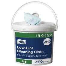 Aftørringsklud Tork Sensitiv Handy Bucket W10 turkis 165x300mm product photo