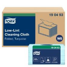 Aftørringsklud Tork Sensitiv W8 turkis 300x385mm product photo
