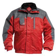 Jakke FE vinter Enterprise pilot med foer rød/grå polyester m/PU product photo