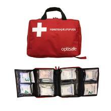 Førstehjælpstaske 30x20x8cm incl. udstyr all round rød product photo