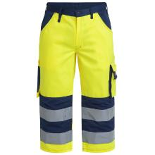 Knickers FE Safety EN ISO 20471 gul/marine polyester/bomuld product photo