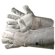Handske Power Touch grå oksespalt 15 cm skaft product photo