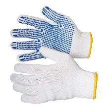 Handske hvid strik m/dot bomuld/polyester product photo
