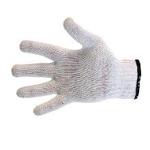 Handske hvid strik u/dot bomuld/polyester product photo