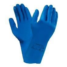 Handske AlphaTec® 87-195 blå latex 0.35mm product photo