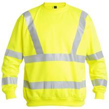 Sweatshirt FE Safety EN ISO20471 gul polyester m/pique fleece product photo