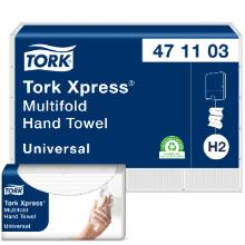 Håndklædeark Tork Xpress Multifold Standard natur 213x234mm 2 lag H2 product photo