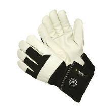 Vinterhandske Tegera 203 grå/sort oksehud /bomuld product photo