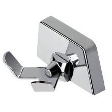 Handdoekhaak dubbel chroom Productfoto