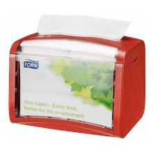 Tork Xpressnap® servetdispenser Tabletop N4 15.5x20.1x15 cm rood Productfoto
