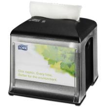 Tork Xpressnap Snack® Tabletop servetdispenser zwart N10 Productfoto