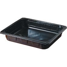 Tray pp 1/2gn 325x265x40mm zwart Productfoto