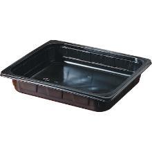 Tray pp 1/2gn 325x265x60mm zwart Productfoto