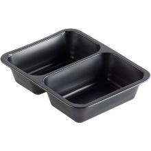 Tray pp 227x178x50mm 2vaks zwart Productfoto