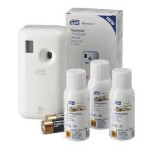 Tork luchtverfrisser aerosol startpakket wit Productfoto