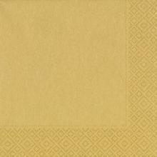 Duni servet celstof 33x33 cm goud 3-laags Productfoto