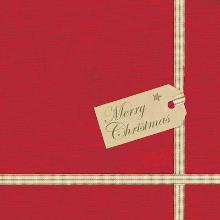 Dunisoft servet 20x20cm Christmas Gift red Productfoto