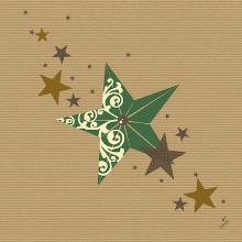 Dunilin servet 40x40cm Walk of Fame green kraft Productfoto