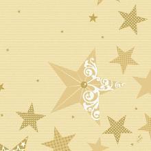 Servet celstof 40x40cm 3-laags Walk of Fame cream Productfoto