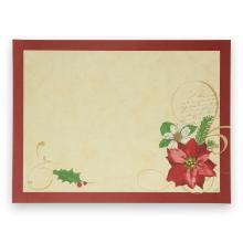 Duni Christmas Flower placemat 30x40 cm Productfoto
