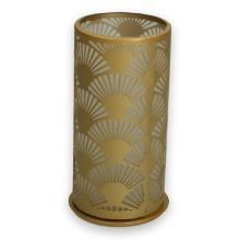 Duni metalen kaarsenhouder peacock 140x75 mm goud Productfoto