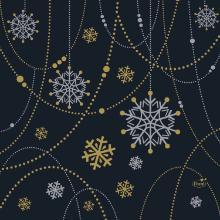 Duni snowflake necklace servet 33x33 cm zwart Productfoto