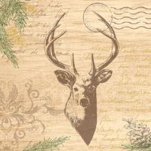 Duni My Deer servet 33x33 cm bruin 3-laags Productfoto