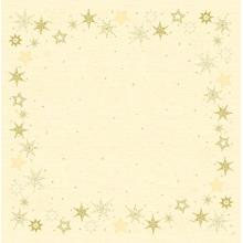 Duni Dunisilk Star Stories slipcover 84x84 cm creme met dessin Productfoto