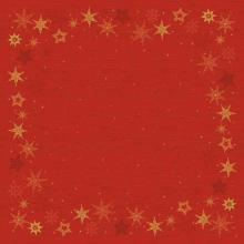 Duni Dunicel Star Stories napperons 84x84 cm rood met print Productfoto