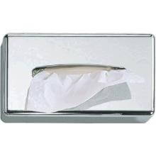 Cosmetic tissuehouder ABS rechthoek 25.6x14x6 cm verchroomd Productfoto
