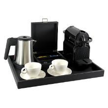 Nespresso welcome tray 50x40x4 cm kunstleer zwart Productfoto