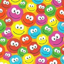 Cadeaupapier smiley dessin 50 cm x 250 meter op rol Productfoto