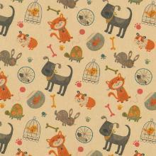 Cadeaupapier dieren dessin 50 cm x 200 meter op rol Productfoto