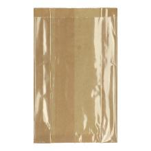 Vensterzak polykraft + PE 14+(2x3)x24 cm bruin transparant Productfoto