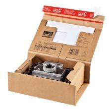 Kartonnen verzenddoos 5 33x29x12 cm bruin met plak- en tearstrip Productfoto