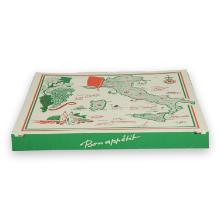Kartonnen pizzadoos Italia 32x32x3 cm Productfoto