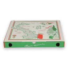 Kartonnen pizzadoos Italia met aluminium 30x30x3 cm Productfoto