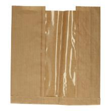 Vensterzak tafelbroden kraft + sarafan 30+(2x3,5)x34 cm bruin transparant Productfoto