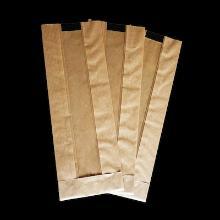 Vensterzak kraft + sarafan folie 9.5+(2x3)x14.5 cm 30 my bruin gestreept Productfoto
