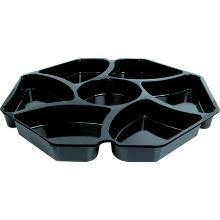 Octaview box insert APET 30.5x30.5 cm 6x180 cc 7 vaks zwart Productfoto