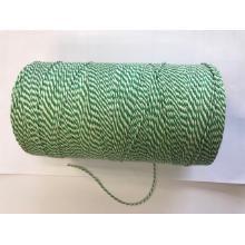 Katoenkoord no. 24 groen / wit Productfoto