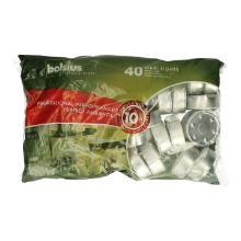 Bolsius theelicht kaars maxi wit 10 br.uren zak p/40st Productfoto