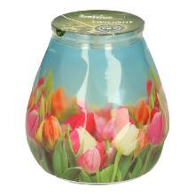 Bolsius Twilight kaars 70 brand uren tulpen Productfoto