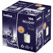 Bolsius ReLight PLUS refill kaars wit 30 branduren Productfoto