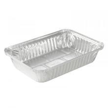 Aluminium schaal rechthoek 21.4x15.1x3.8 cm 900 cc Productfoto