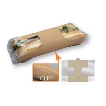 Baguette Clasp Clip verp.kraft met venster 210x251.5 mm Productfoto