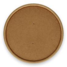 Kartonnen deksel kraft ø 97 mm 450 ml / 16 oz bruin Productfoto