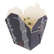 Kartonnen maaltijdbak PE rechthoek 11.8/8.4x9.7/6.3x9.2cm 750ml/26oz Productfoto