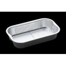 Aluminium maaltijdbak 23.4x21.8x20.6 cm 940 cc zwart smoothwall Productfoto