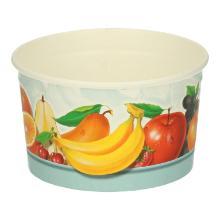 Kartonnen ijsbeker PE 230 cc fruit design Productfoto